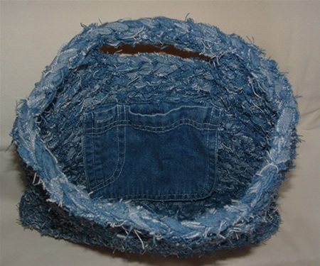 Denim Bag Inside