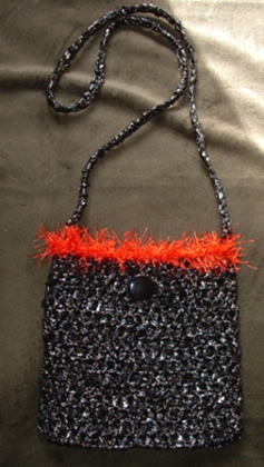 Sling Bag with Fur