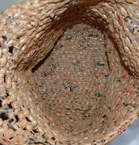 Recycled Plastic Grocery Tote Bag