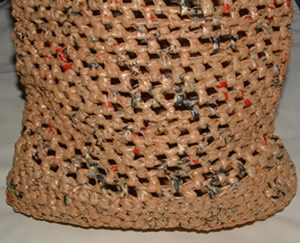 Grocery Bag Crochet : Recycled Plastic Grocery Tote Bag My Recycled Bags.com