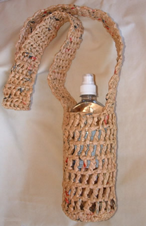 I just recently completed this water bottle carrier or holder.