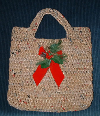 Free Crochet Pattern Using Plastic Bags : Recycled Grocery Tote Bag My Recycled Bags.com