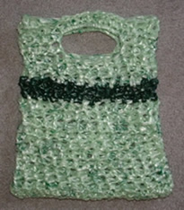 recycled green tote bag which I'm calling my Green Greenie Bag