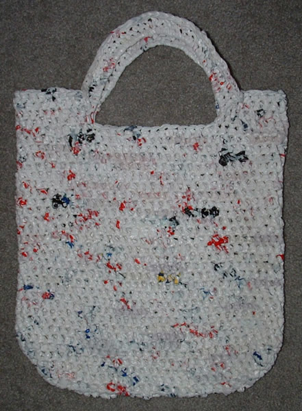 recycled plastic bags crochet/knit...not just afghans Pinterest