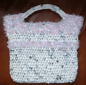 Recycled Fun Fur Tote Bag