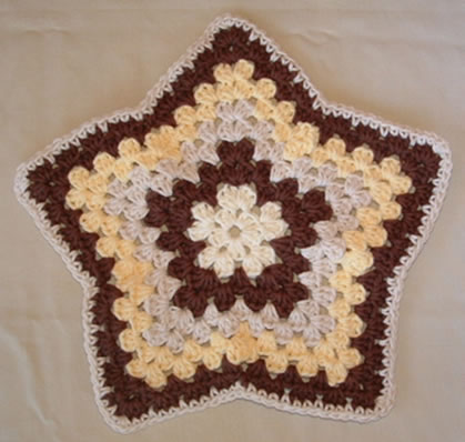 Brown Star Dishcloth