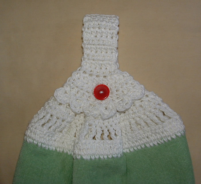 Crochet Patterns Kitchen Towels : Alfa img - Showing > Kitchen Towel Top Crochet Pattern
