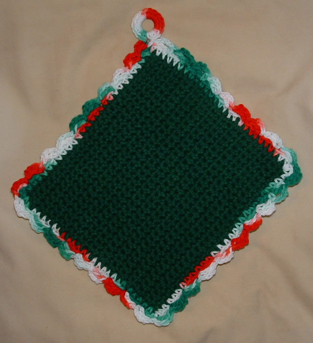 Free easy to make Crochet Potholder - Beginner Pattern