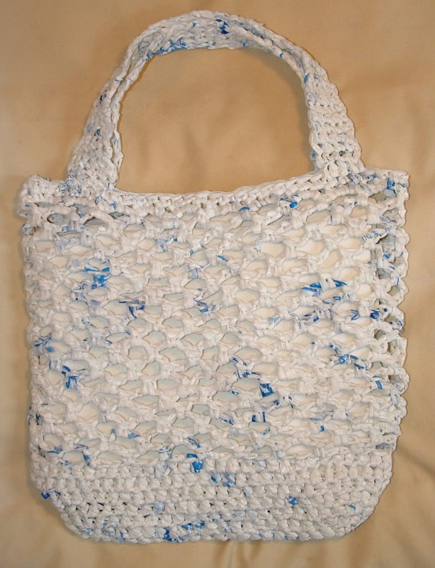 Free Crochet Patterns Plarn Bags : Recycled Net Market Bag My Recycled Bags.com