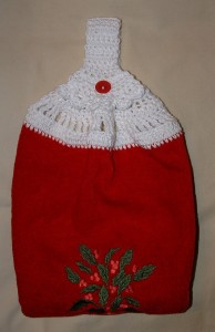 Red Christmas Towel Topper
