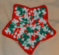 Christmas Star Dishcloth