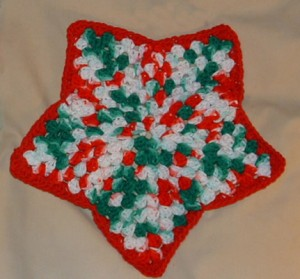 Free Crochet Star Dishcloth Pattern : Christmas Kitchen Towel Sets My Recycled Bags.com