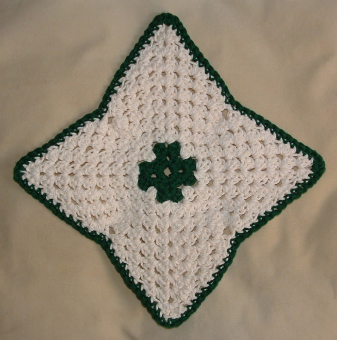 Free Crochet Pattern For Diagonal Dishcloth : CROCHETED DIAGONAL DISHCLOTH PATTERN FREE PATTERNS