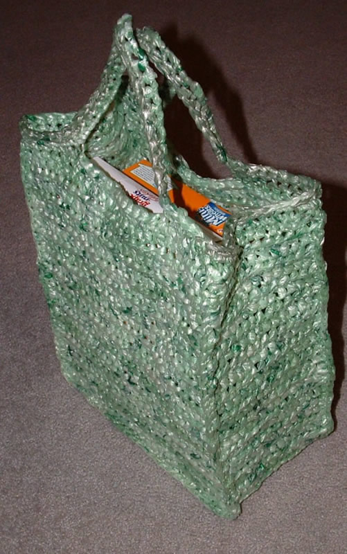 Free Crochet Patterns Using Plastic Grocery Bags : The Green Shopping Bag My Recycled Bags.com