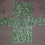green shopping bag pieces