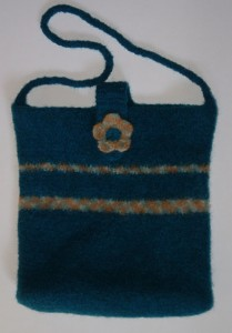 Felted Flower Tote