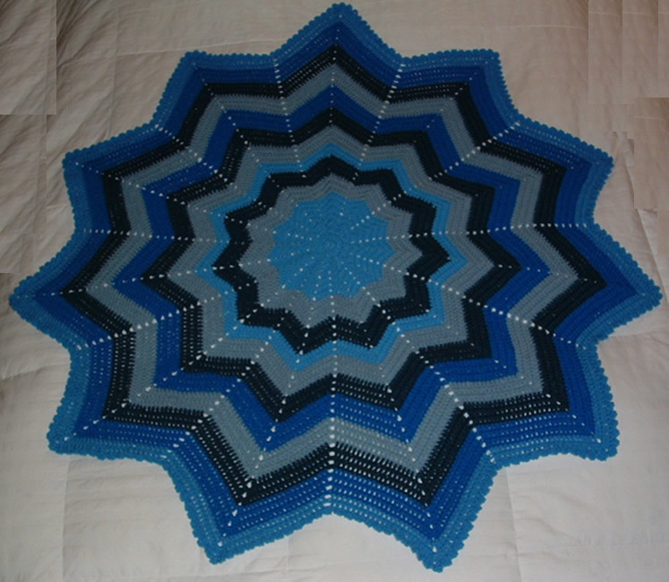 Where can I find a free crochet ripple afghan pattern that looks