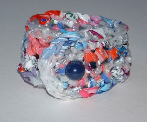 Recycled Blue Plastic Bracelet