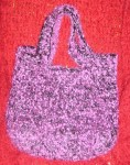 Purple VCR Fun Fur Bag