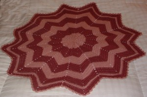 Rose-Pink Baby RR Blanket