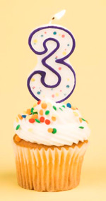 3 Year Old Blog Anniversary