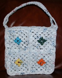 Recycled Plastic Granny Square Tote Bag