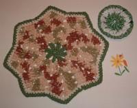 Green RR Dishcloth & Plarn Scrubbie