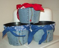 Recycled Denim Pots