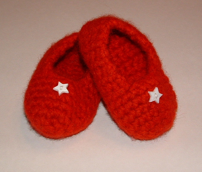 Felted Baby Slippers | My Recycled Bags.com