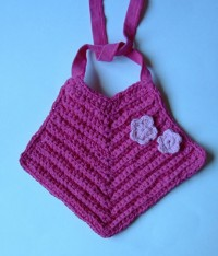 T-Yarn Flower Baby Bib