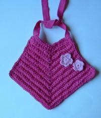 T-Yarn Flower Baby Bib
