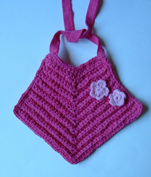 T Yarn Flower Baby Bib My Recycled Bags