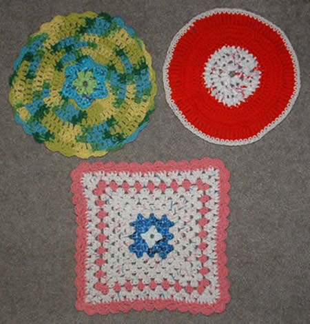 Dishcloths with Plastic Scrubber