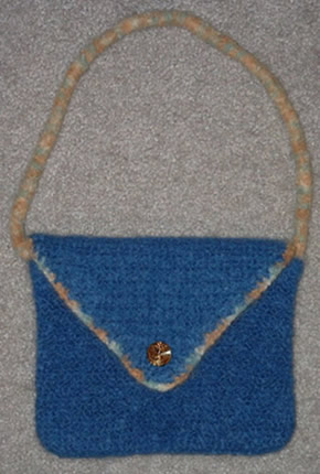 Felted Blue Handbag