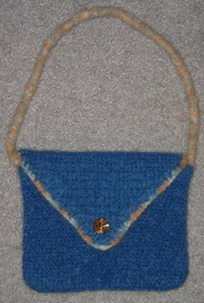 Felted Blue Handbag