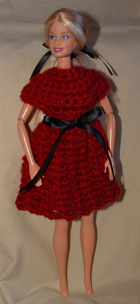 Barbie red dress