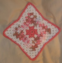 Pointed Pink Granny Dishcloth