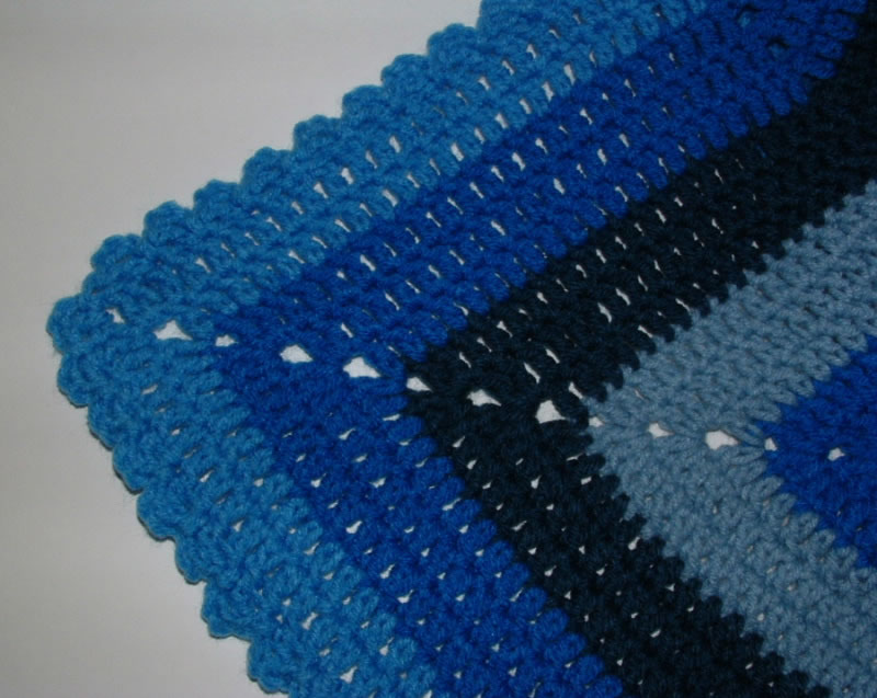 Double Crochet Ripple Afghan Patterns - Crochet and ...