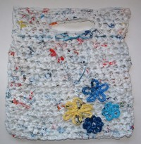 Flower Power Plarn Tote Bag