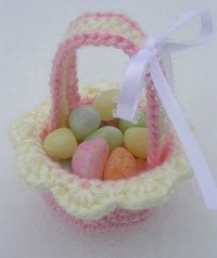 Pink Mini Easter Basket