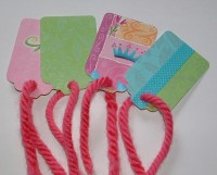 Recycled Greeting Card Gift Tags